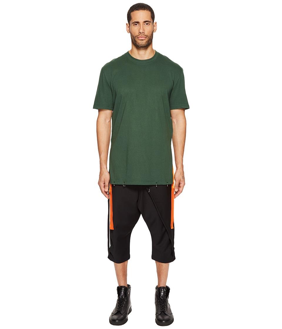 D.GNAK - Side Tapes T-Shirt (Green) Men's T Shirt