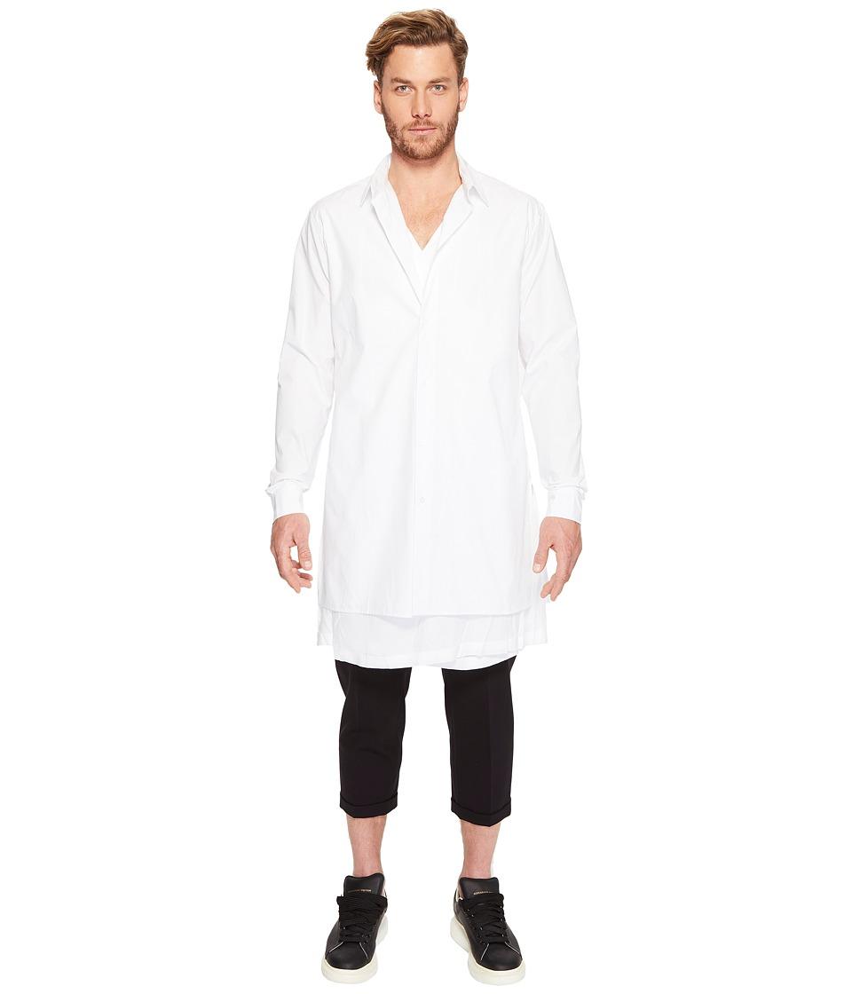 D.GNAK - Layered Shirt (White) Men's Clothing