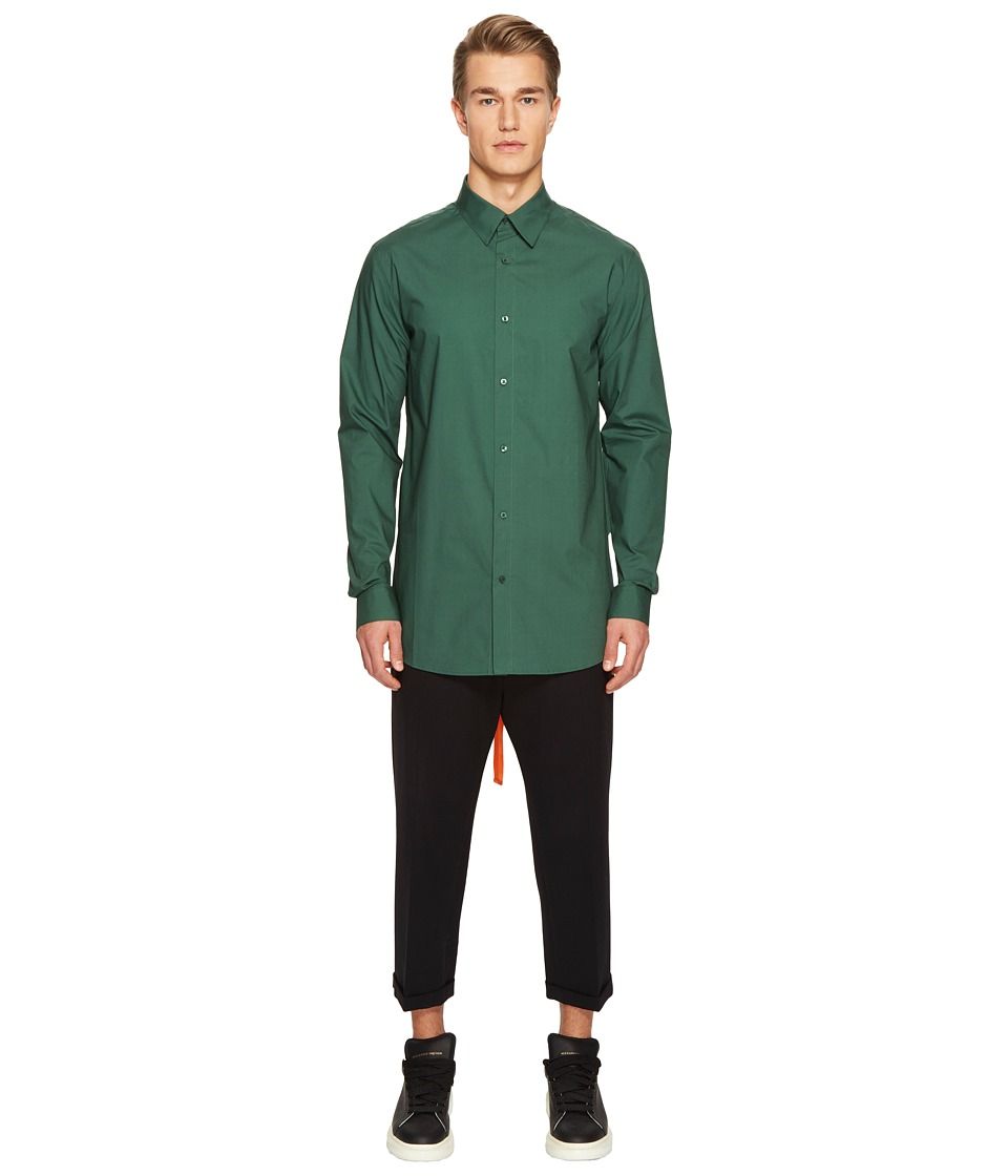 D.GNAK - Back Tape Shirt (Green) Men's Clothing