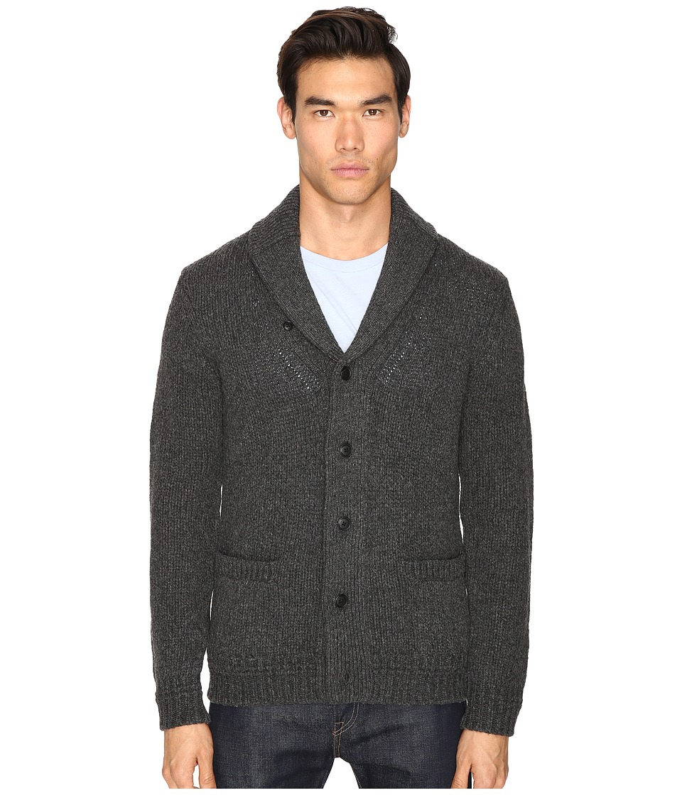 Jack Spade - Chunky Shawl Collar Cardigan (Gunmetal) Men's Sweater