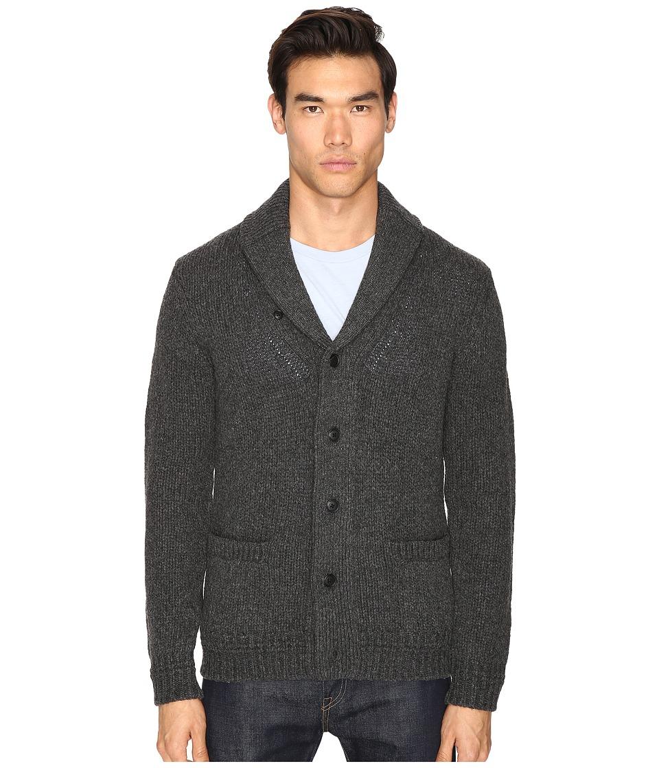 Jack Spade - Chunky Shawl Collar Cardigan (Gunmetal) Men's Sweater