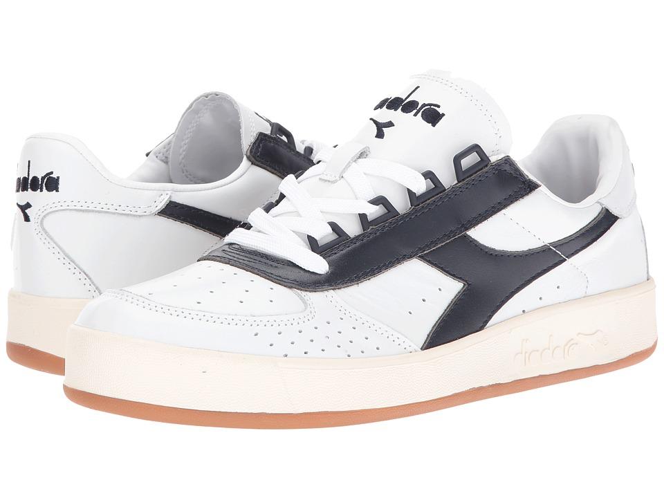 Diadora - B. Elite Premium (White/Blue Caspian Sea) Men's Shoes