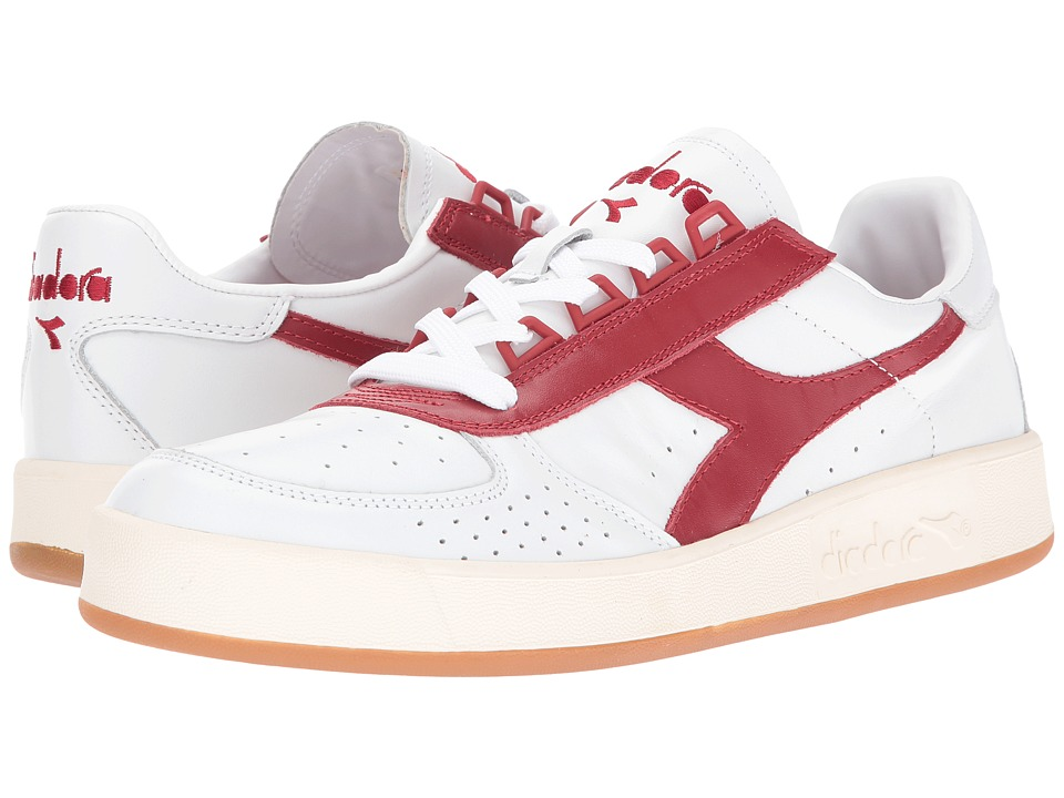 Diadora - B. Elite Premium (White/Red Pepper) Men's Shoes