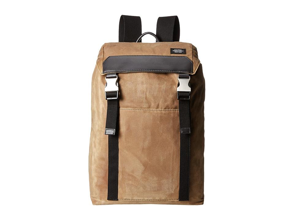 Jack Spade - Waxwear Army Backpack (Khaki) Backpack Bags