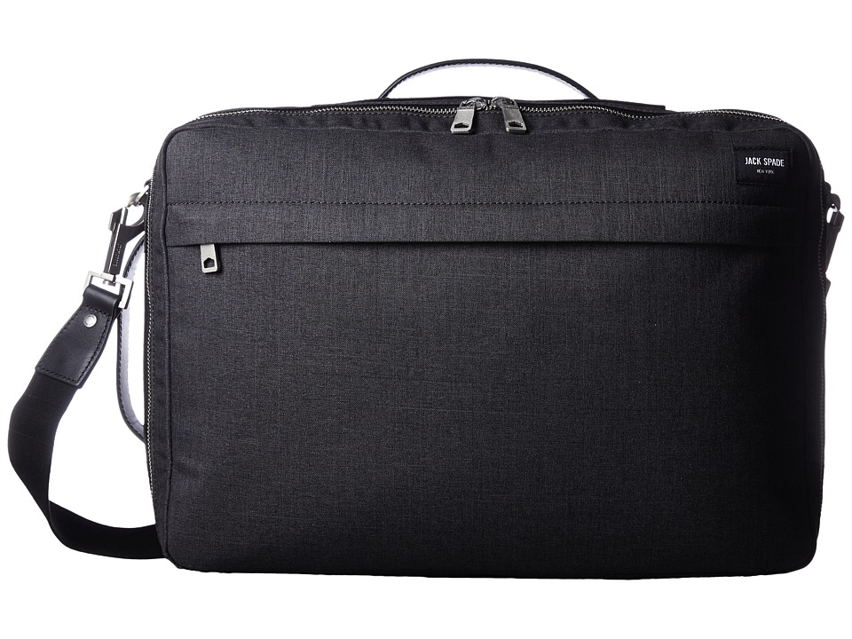 Jack Spade - Tech Oxford Convertible Briefpack (Charcoal) Briefcase Bags