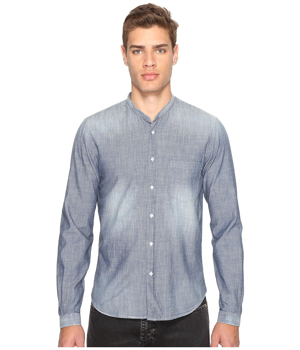 The Kooples - Light Denim Shirt (Blue) Men's Clothing