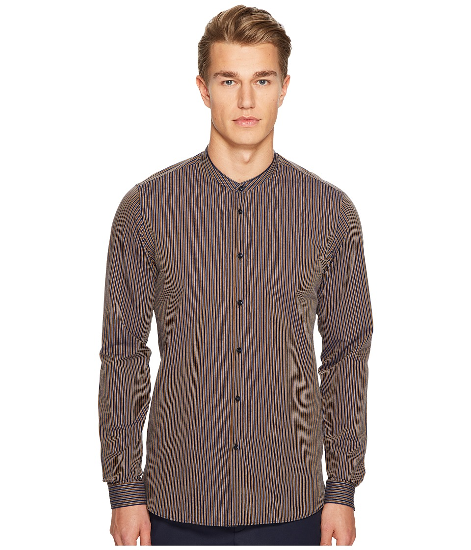 The Kooples - Purple Pride Button Up (Navy) Men's Clothing