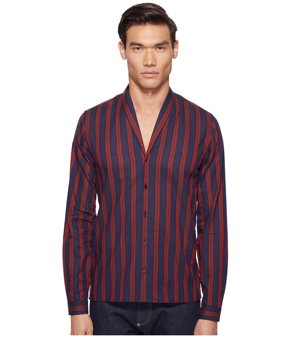 The Kooples - Shades of Red Shirt (Navy/Red) Men's Clothing
