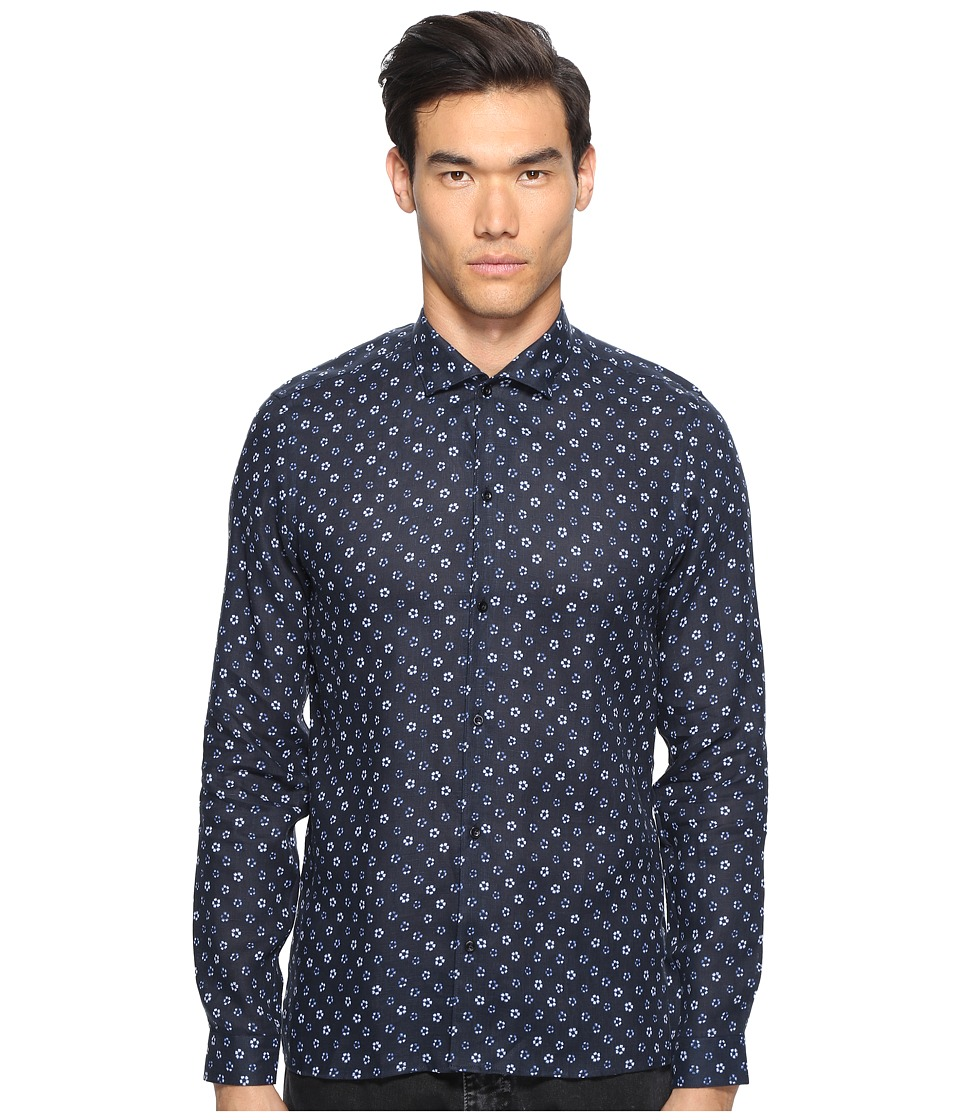 The Kooples - Hippie Flowers Button Up (Navy) Men's Clothing