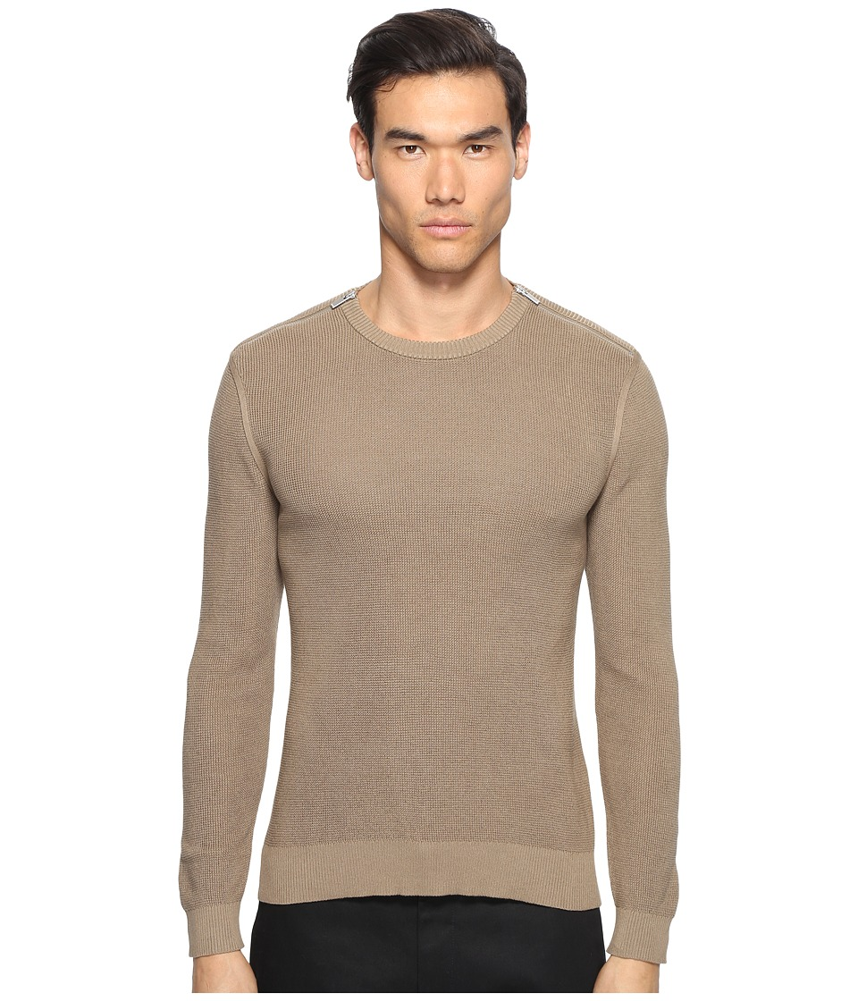The Kooples - Cotton Pearl Stitch Sweater (Camel) Men's Sweater