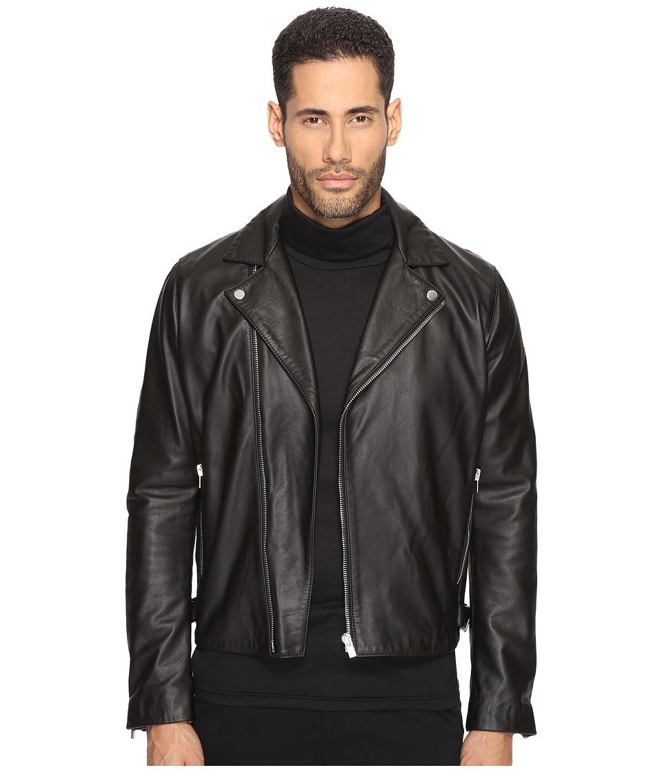 The Kooples - Minimalist Leather Motorcycle Jacket