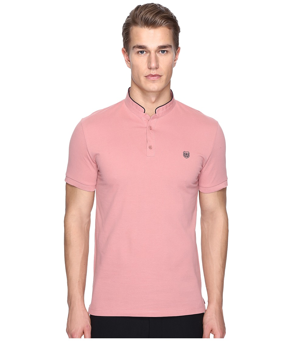The Kooples - Sport New Shiny Pique Polo (Pink) Men's Clothing