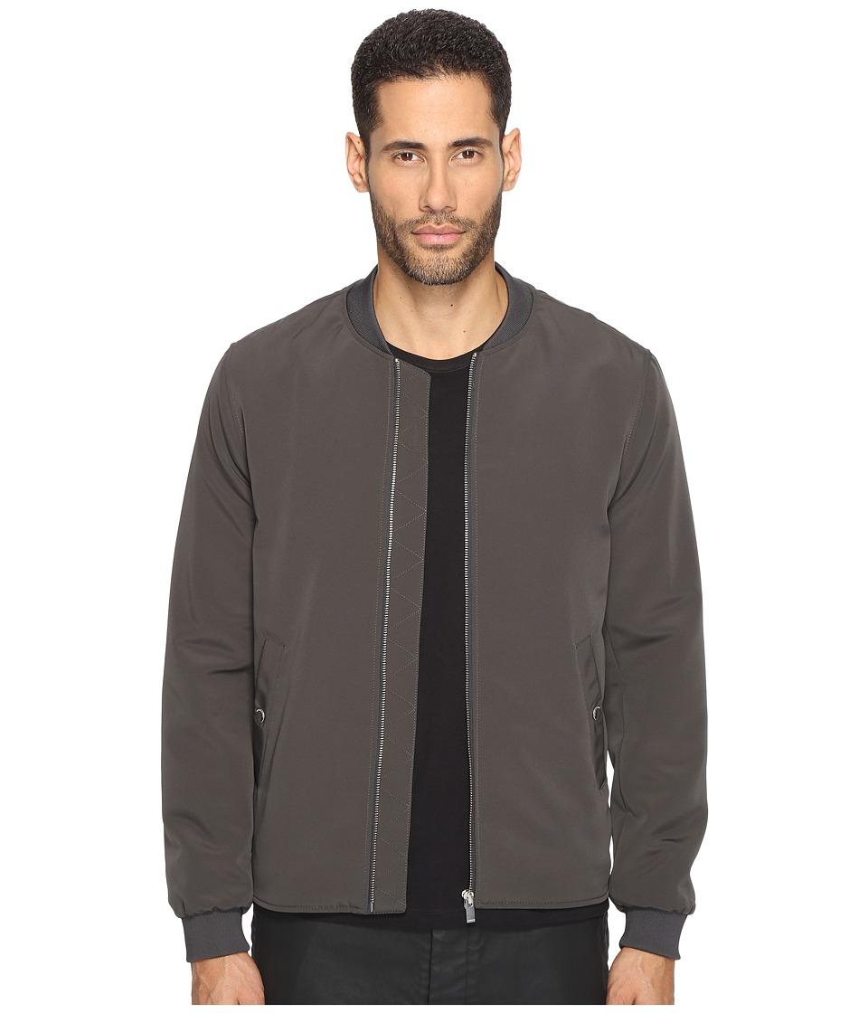 The Kooples - Classic Nylon Bomber Jacket (Khaki) Men's Coat