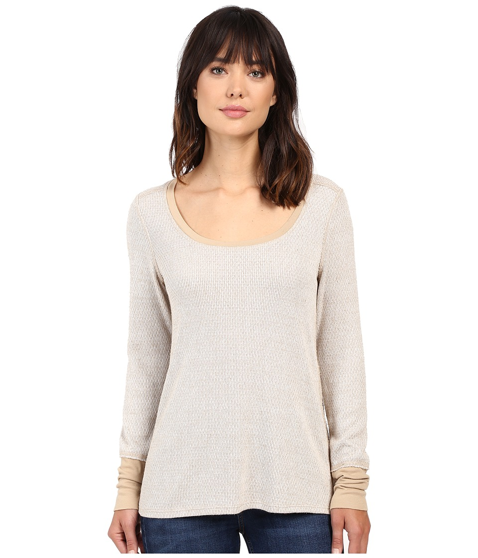 Project Social T - Brighton Thermal Long Sleeve (Tan) Women's Long Sleeve Pullover