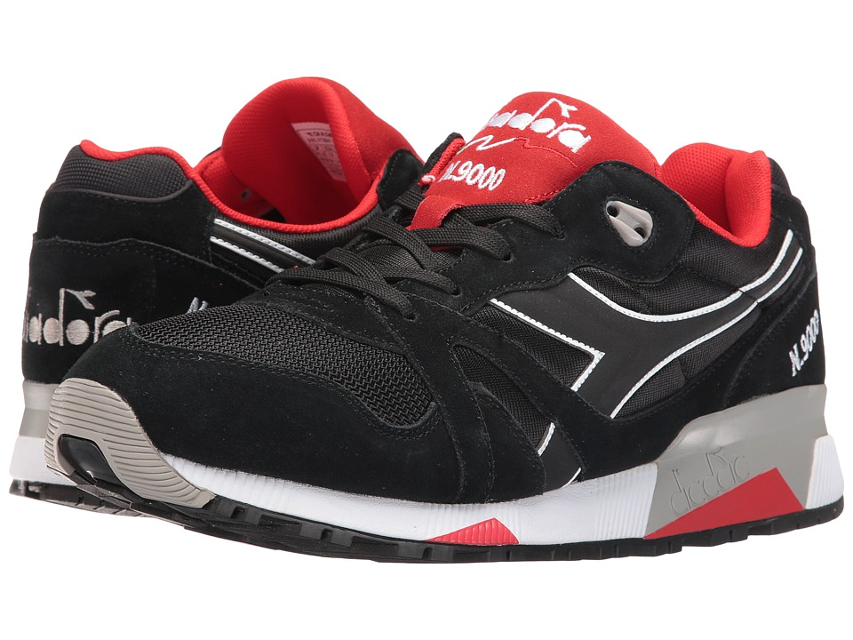 Diadora - N9000 NYL II (Black/Ferrari Red) Men's Shoes