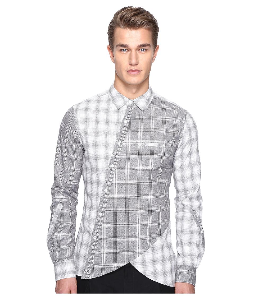 PRIVATE STOCK - Biker Button Down (Multi Gray) Men's Clothing