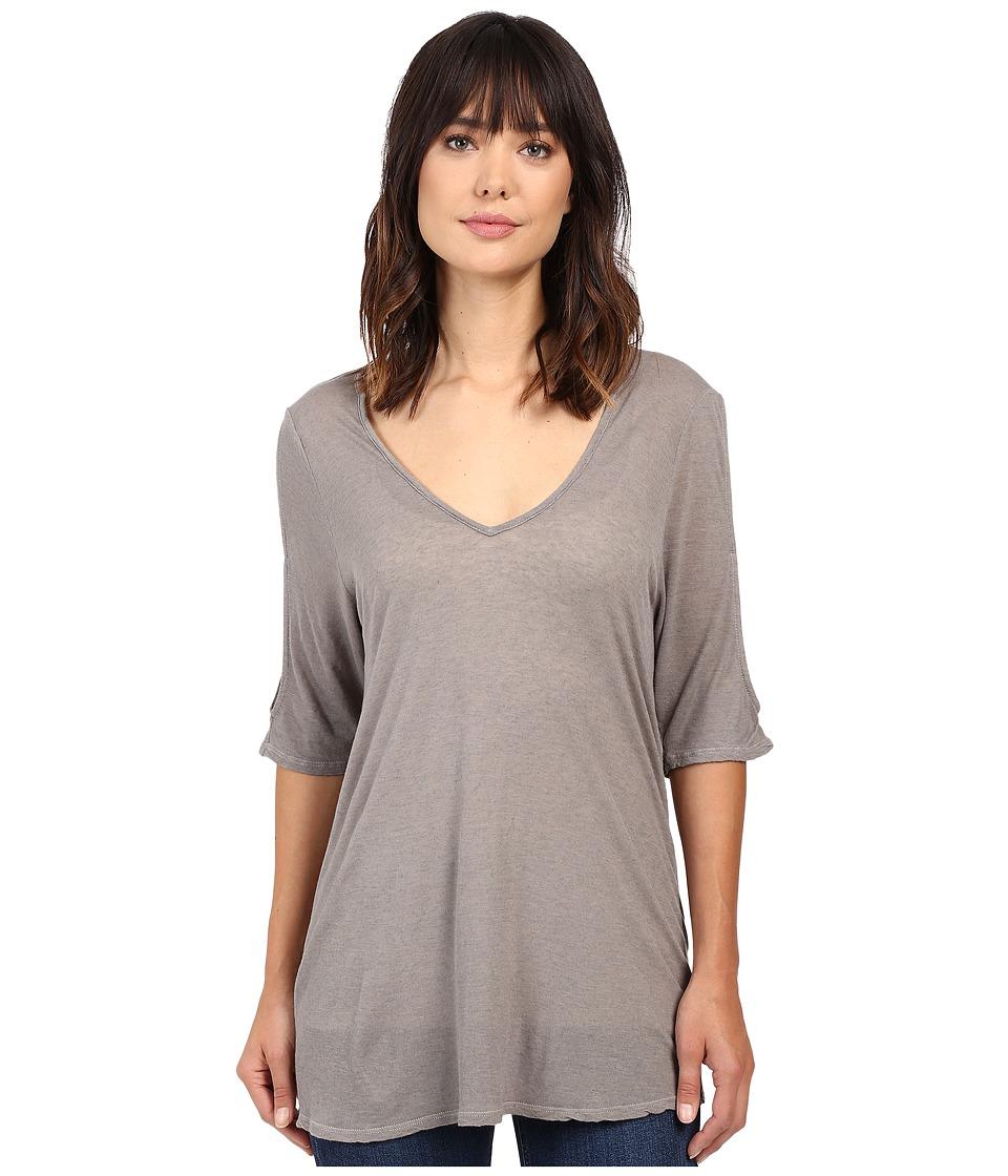 Project Social T - Taylor Cold Shoulder (Ash) Women's Clothing