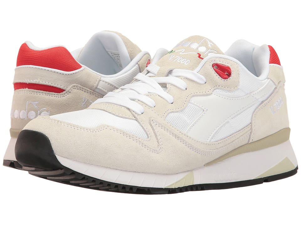 Diadora - V7000 NYL II (White/Ferrari Red Italia) Men's Shoes