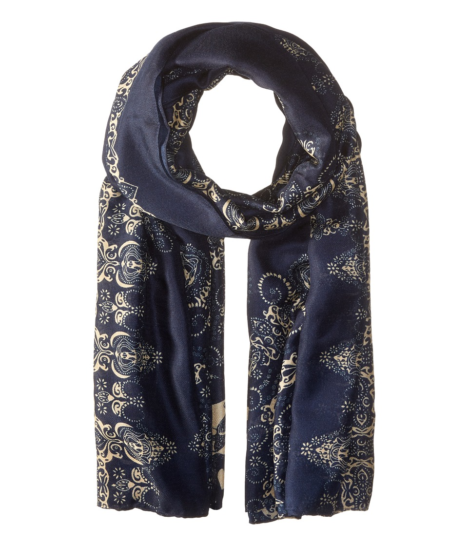 The Kooples - Lightweight Printed Scarf (Navy) Scarves