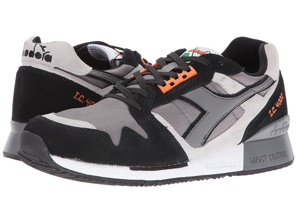 Diadora - I.C. 4000 NYL II (Steel Gray/Black) Men's Shoes