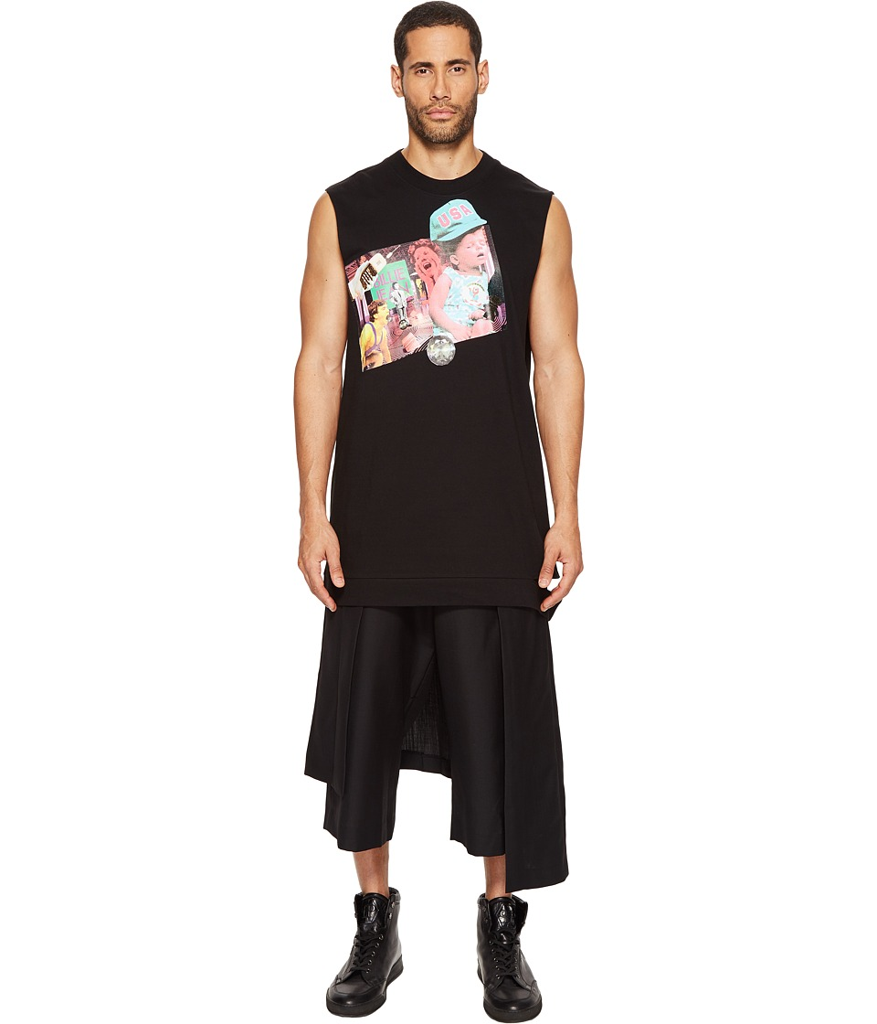 DBYD - Collage Printed Sleeveless T-Shirt (Black) Men's Sleeveless