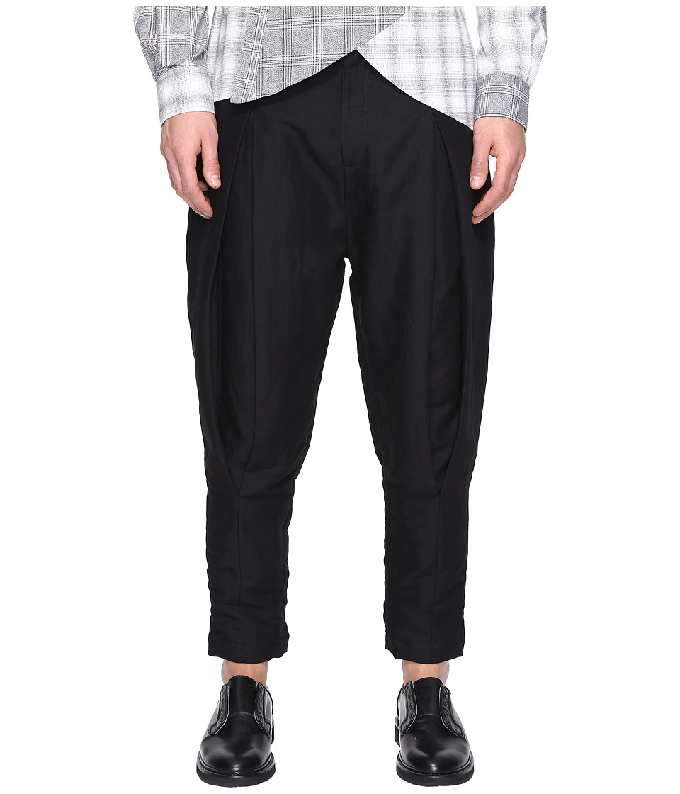 PRIVATE STOCK - Pintuck Trousers (Black) Men's Clothing