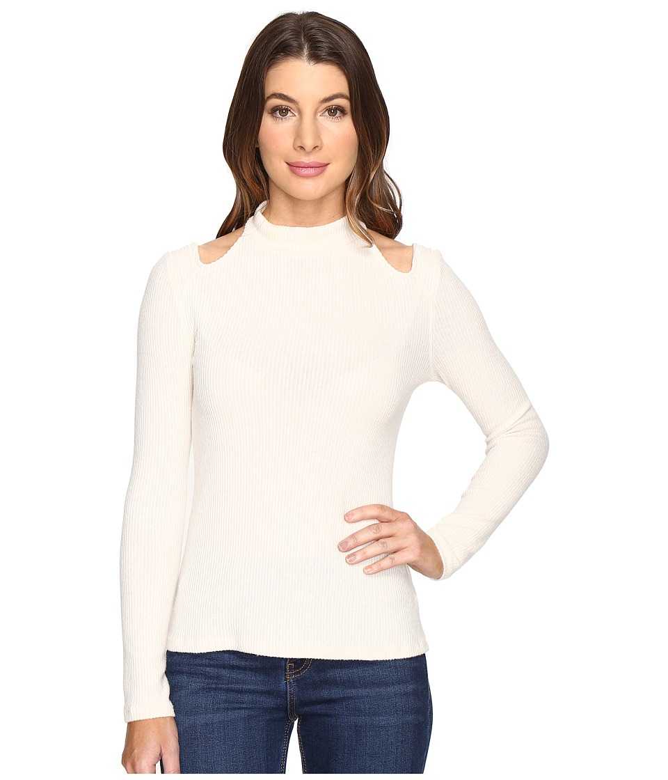 Project Social T - December Mock Neck (Cream) Women's Clothing