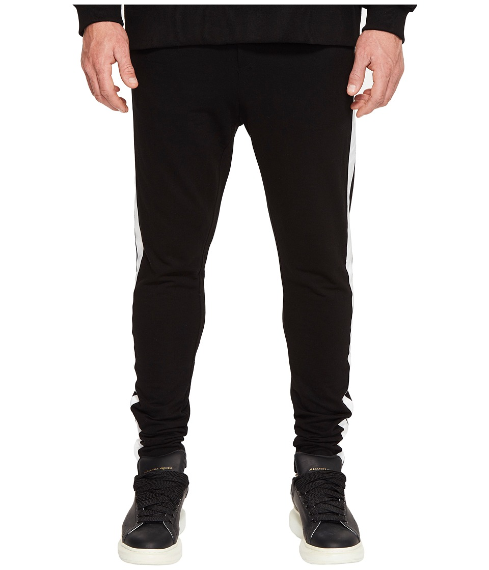 DBYD - Side Tape Jersey Pants (Black/Ivory) Men's Casual Pants