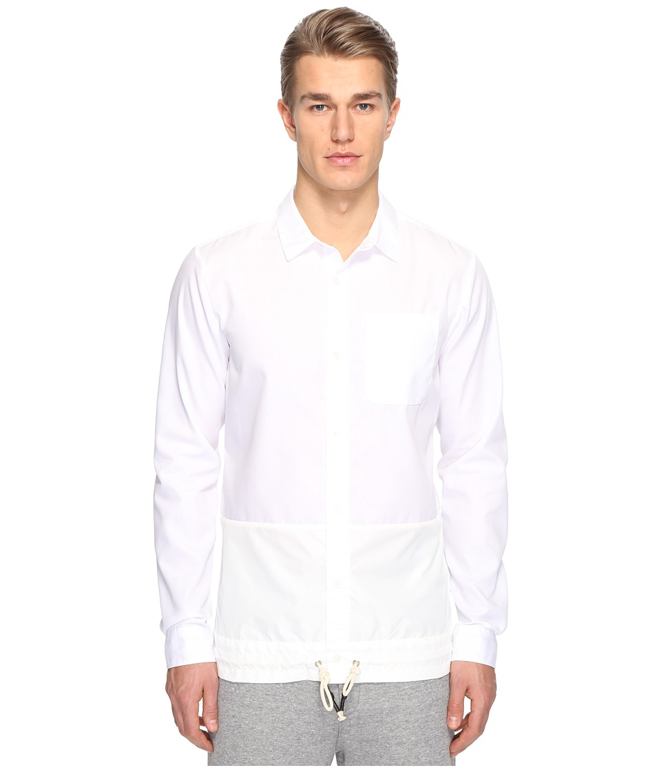 Mostly Heard Rarely Seen - Split Button Front Shirt (White) Men's T Shirt