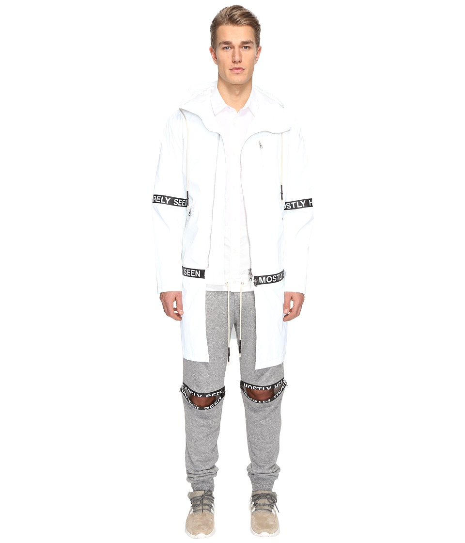 Mostly Heard Rarely Seen - Detached 3M Reflective Hoodie (White 3M) Men's Sweatshirt