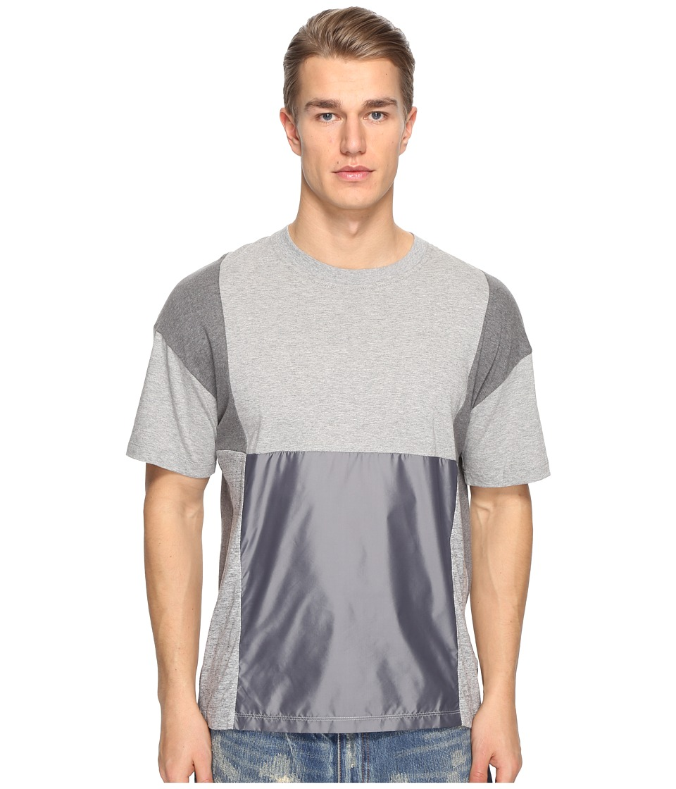 Mostly Heard Rarely Seen - Geometric Back Pocket Tee (Multi Gray) Men's T Shirt