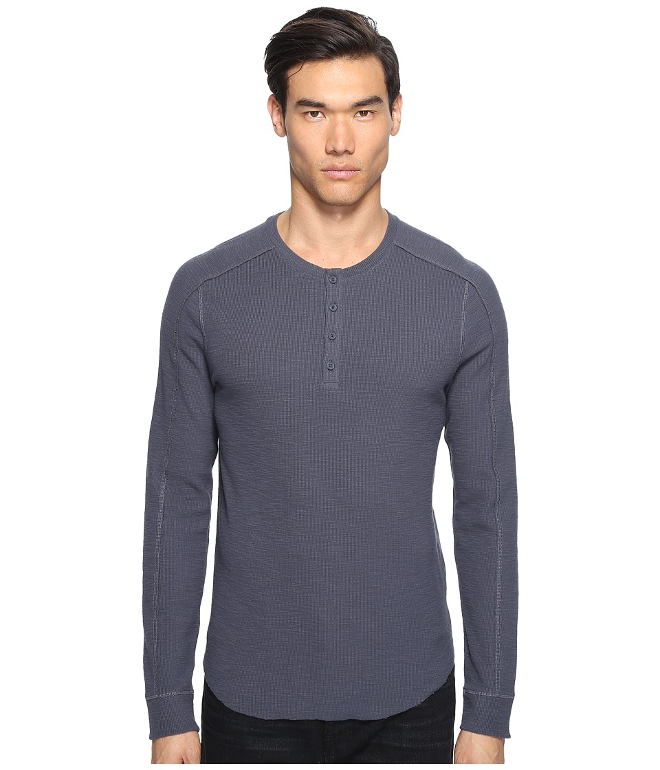 Vince - Long Sleeve Henley (Pewter) Men's Long Sleeve Pullover