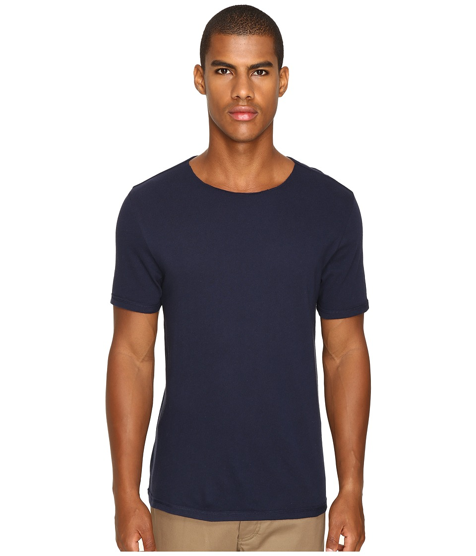 Vince - Raw Edge Crew Neck T-Shirt (Manhattan Navy) Men's T Shirt
