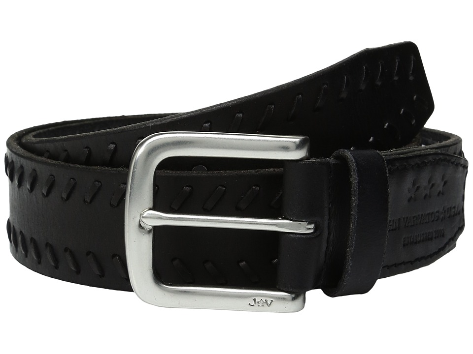 John Varvatos - Laced Strap Belt with Harness Buckle (Black) Men's Belts