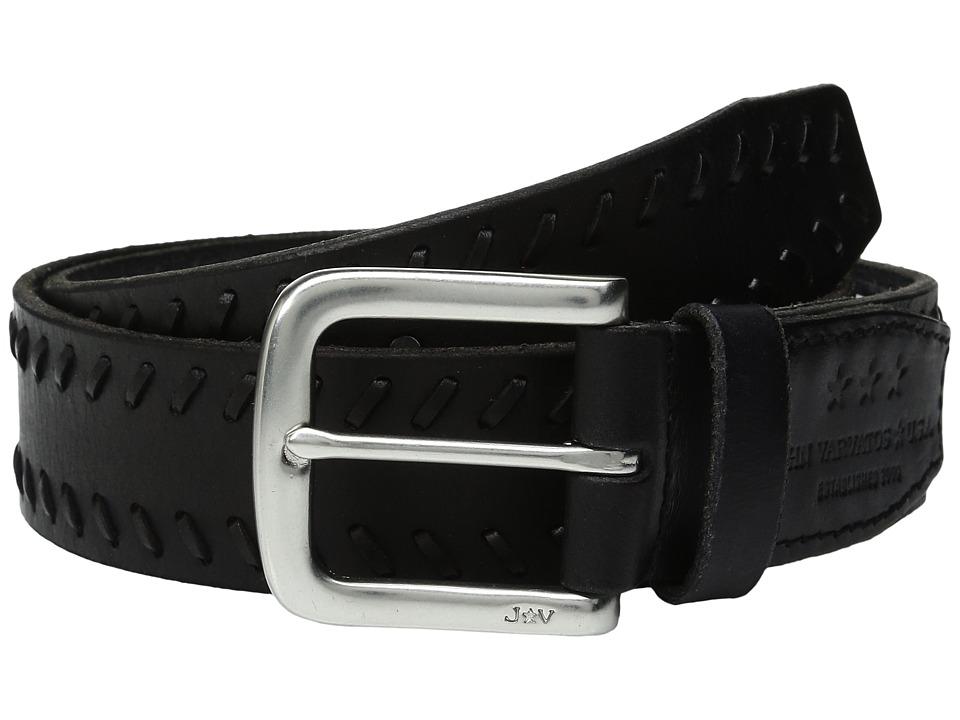 John Varvatos - Laced Strap Belt with Harness Buckle (Black) Men's Belts