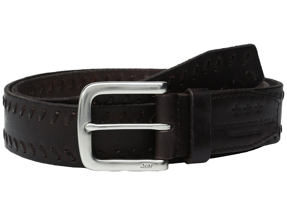 John Varvatos - Laced Strap Belt with Harness Buckle (Chocolate) Men's Belts