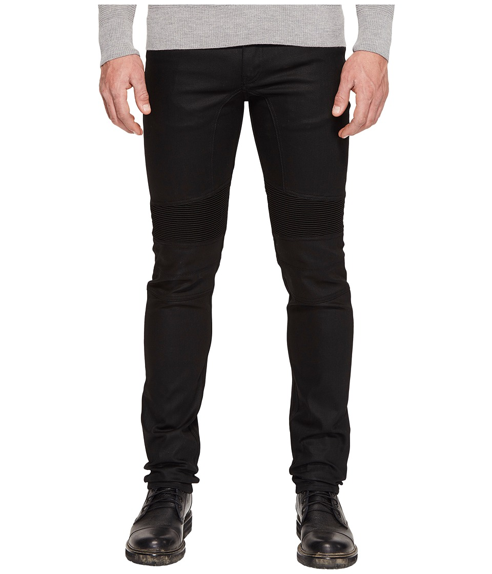 BELSTAFF - Eastham Slim Fit Raw Stretch Motor Denim in Black (Black) Men's Jeans