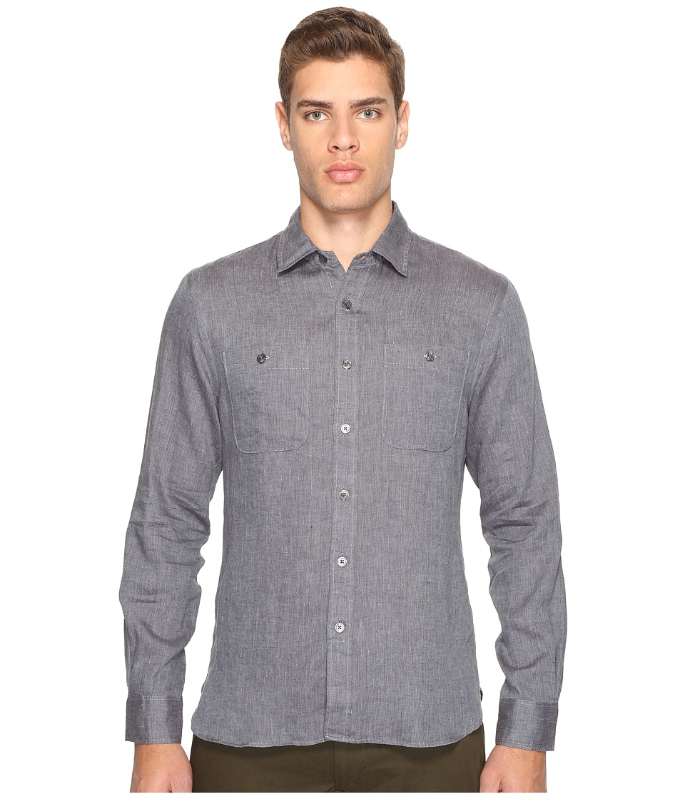 Todd Snyder - Linen Two-Pocket Shirt (Charcoal) Men's Clothing