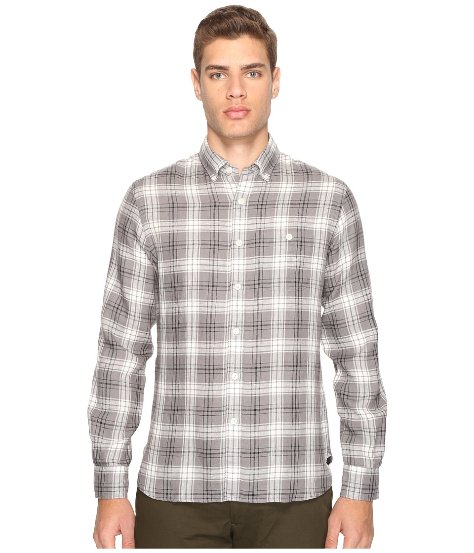 Todd Snyder - Linen Check Shirt (Black/Grey) Men's Clothing
