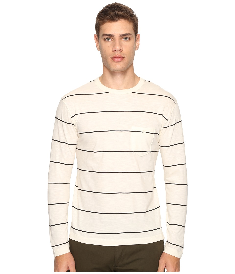 Todd Snyder - Wide Stripe Long Sleeve Tee (Ecru) Men's Clothing