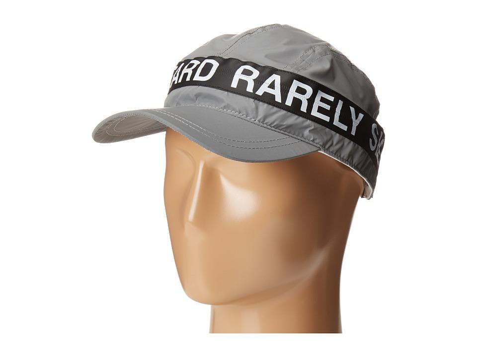 Mostly Heard Rarely Seen - Zipper 3M Reflective Convertible Visor Hat (Silver 3M) Casual Visor