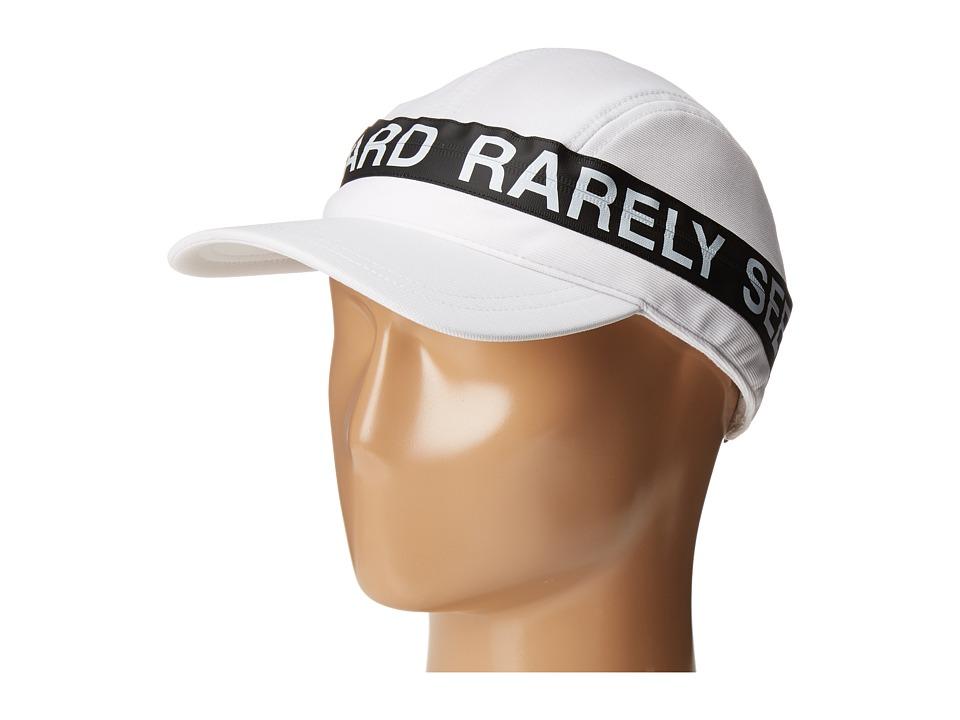 Mostly Heard Rarely Seen - Zipper Convertible Visor Hat (White) Casual Visor