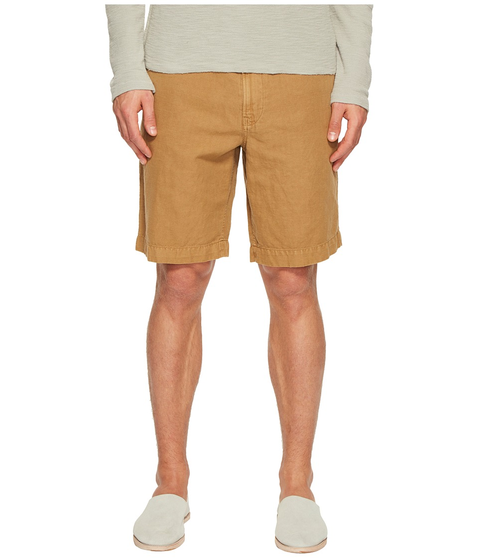 Billy Reid - Clyde Linen Shorts (Dark Tan) Men's Shorts