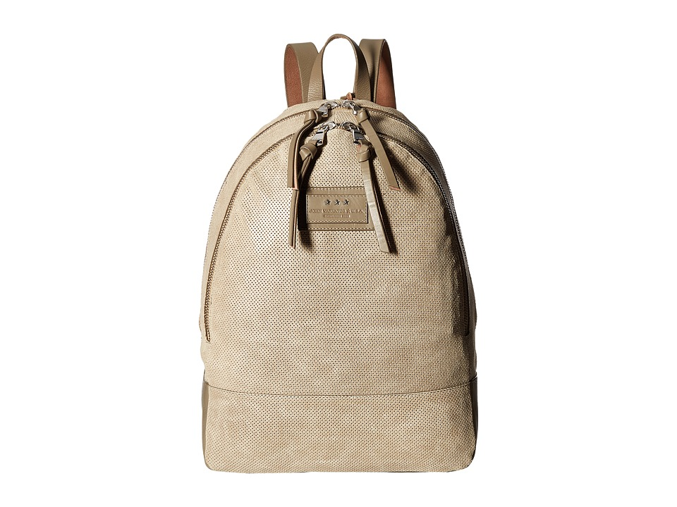 John Varvatos - Perf Waxed Suede Backpack (Sand) Backpack Bags