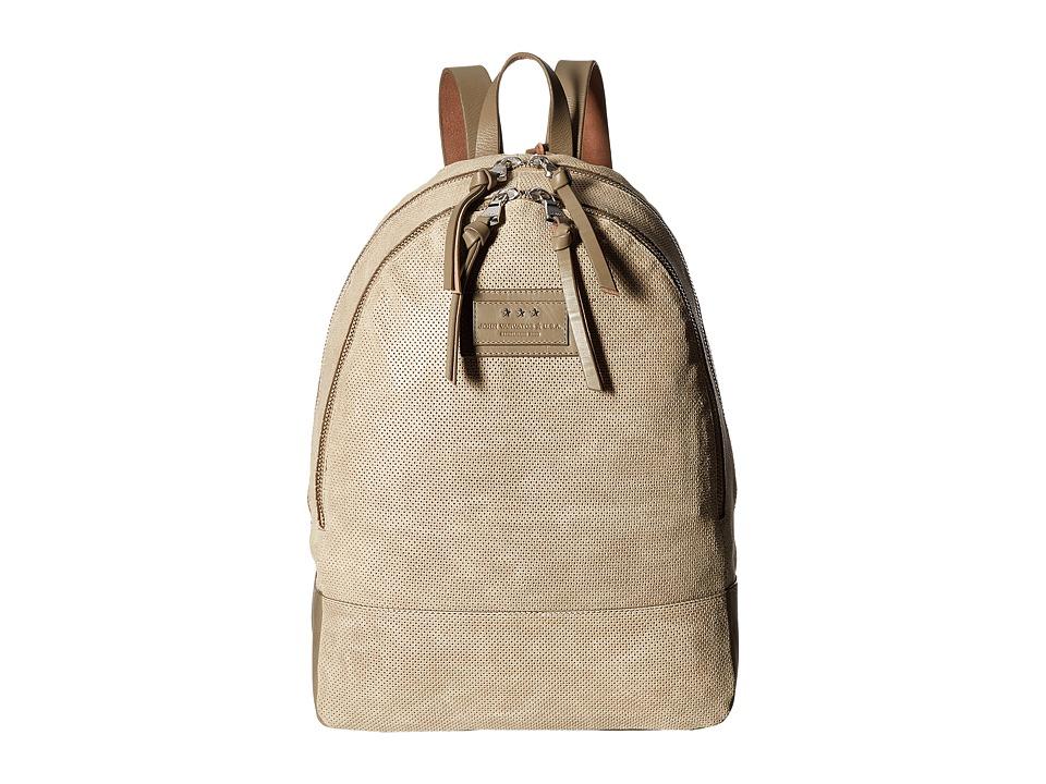 John Varvatos - Perf Waxed Suede Backpack (Sand) Backpack Bags