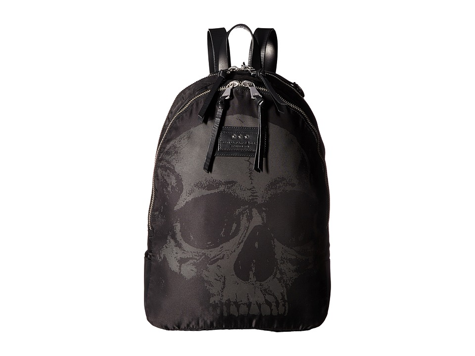 John Varvatos - Skull Printed Backpack (Black) Backpack Bags
