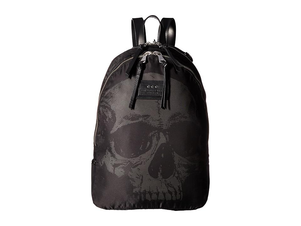 John Varvatos - Skull Printed Backpack (Black) Backpack Bags