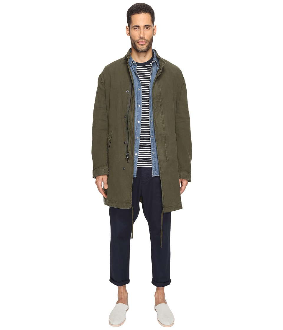 Vince - Lightweight Cotton Parka (Olive) Men's Coat