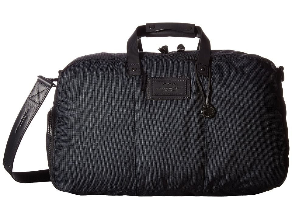 John Varvatos - Croc Embossed Ballistic Nylon Duffel (Navy) Duffel Bags