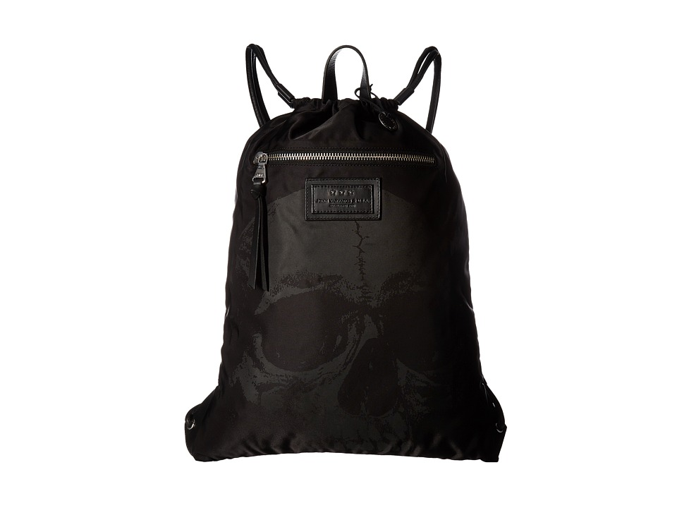 John Varvatos - Skull Printed Cinch Sack (Black) Bags